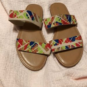 Fun sandals by Bamboo size 7 great colors